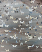 Butterflies in Beige 16x20