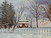 LITTLE RED COTTAGE ON LAKE ERIE 18x24