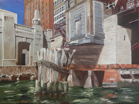 MOORINGS ON THE CHICAGO RIVER 24x18