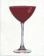 Ruby Martini Glass 8x10