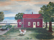 The Old House on the Farm 40x30