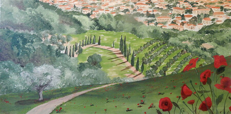 THE POPPIES OF TUSCANY 39.5x19.5